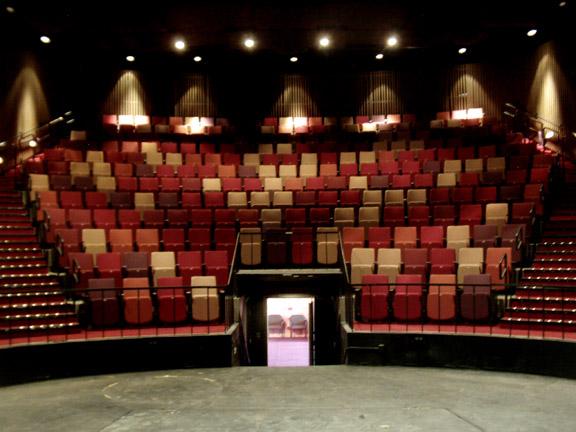 An Old Auditorium Gets A Color Make Over