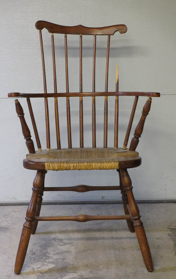 Furniture Repair A Reed Bottomed Comb Back Windsor Arm Chair