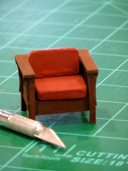 "1/2"" = 1'-0"" Scale Stickley-Style Arts & Crafts Chair"