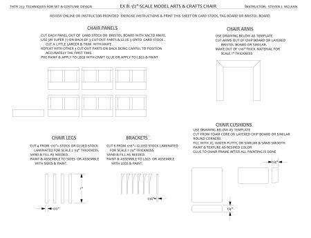 another design exercise 1 2 1 0 scale model furniture designandtechtheatre. Black Bedroom Furniture Sets. Home Design Ideas